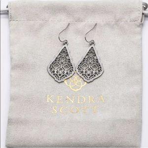 Kendra Scott Addie Silver Earrings Silver Filigree